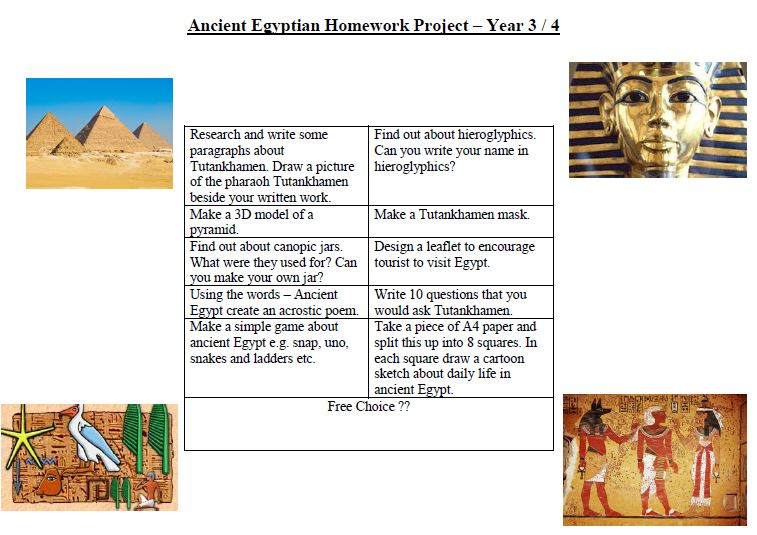 ancient egypt primary homework help