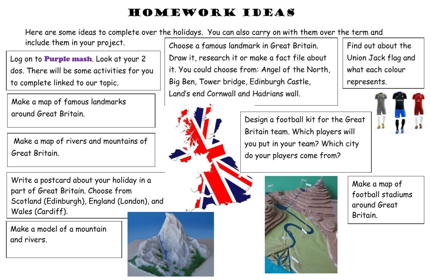 great britain homework ideas