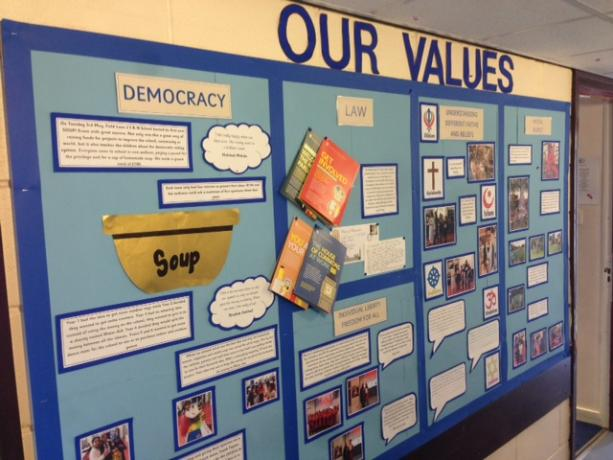 our values display 1