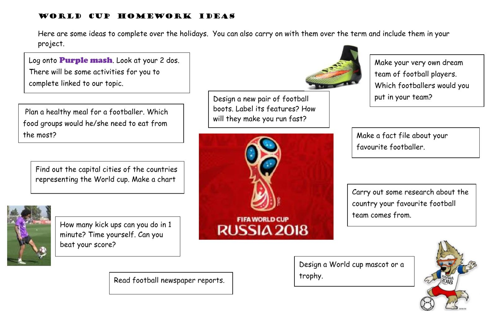 world cup topic web homework ideas
